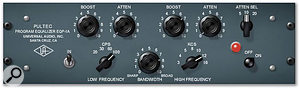 Digital emulations of classic analogue equalisers, such as the TL Audio and Pultec recreations shown above, will often produce the most musical results when you're applying broad and gentle processing during mastering.