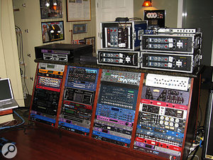 The main outboard rack at The Matrix's studios.