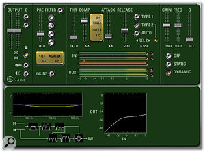 CB3 adds pre- and post-compressor equalisers to the CB1 compression algorithm.