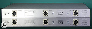 The DC input accepts a  cable from the separate PSU, which can supply power to two LCPQ 4040s.