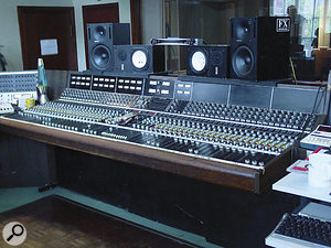 RAK Studios One (shown) and Two are thought to be the only studios in the UK with original '70s API desks.