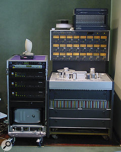 The old and the new: analogue 24-track and Pro Tools hardware in RAK Studio One.