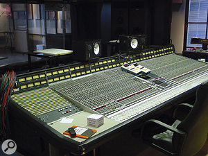 Studio Three, unlike the others, is based around an SSL G-series mixer.