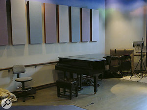 The substantial live area in RAK Studio Three.