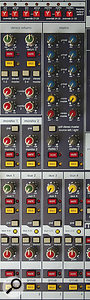 The master section includes a matrix, which is essentially a quick means of creating alternative mixes from the main stereo and mono mixes, and the group buses.