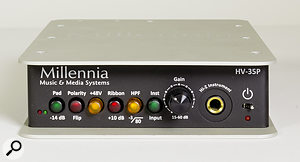 The Millennia HV-35P preamp and DI.