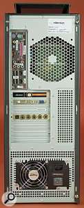 As well as the rearward-pointing grilles, this PC is also ventilated via the top of the case.