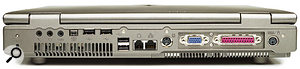 Connectivity includes four USB 2 ports and a mini-Firewire socket.