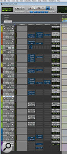 I start with a basic mix template, but develop it for the wider project while working on the first few songs.