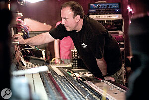 Producer/engineer Joe Barresi uses pedals as part of his mixing process.