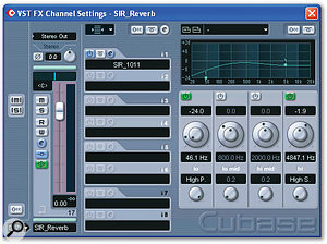 Only one reverb was used, a convolution patch from the SIR plug-in. Once a suitable impulse response had been found, some careful pre-delay and EQ tweaks were applied to optimise it further.