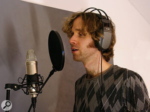 Vocals had been recorded using the same NT1 mic as used for the guitar.