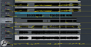 The vocal and guitar levels needed careful automation to create a satisfactory balance throughout the track.