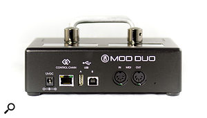 The USB Type A port allows a  controller keyboard or other MIDI device to be connected, while the Type B port caters for connection to a  computer.