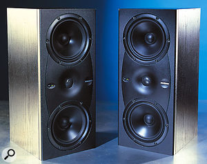 All of the monitors in Mackie's HR series, including the HR626 shown here, use a variation on the reflex design, where a kind of passive speaker cone is fixed over the end of the port. This design retains some of the advantages of the infinite baffle, even though a port it used.