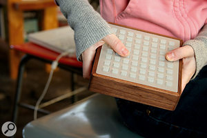 As shown by this photo, the Monome is actually smaller than you might think.