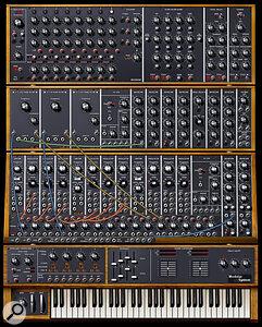 Arturia Moog Modular virtual instrument.