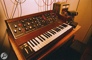 Jan St Werner professes to find synths boring, but he still finds room for the classic Minimoog in his studio.
