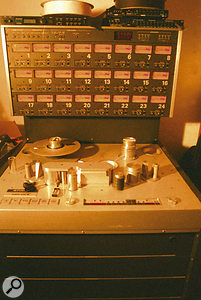 The band's Studer multitrack has been largely superseded by computer-based recording.