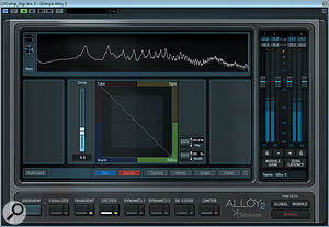 The Exciter module in iZotope's Alloy 2 helped reduce an element of HF harshness in the lead-vocal tone.