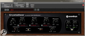 Sound Toys' Crystallizer Plug-in provided the main delay effect on the lead vocals.