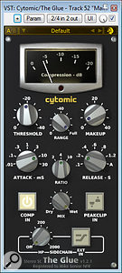 Cytomic's The Glue was used for master-bus compression.