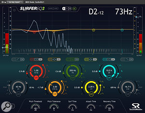 The troublesome bass part was another one that didn't seem to take conventional EQ well. In this instance, Neil used Sound Radix's clever Surfer EQ2, which can move its EQ bands' frequency in relation to the pitch of the incoming signal, keeping the timbre consistent.
