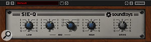 The bass part was also treated to a more general boost around 1kHz, courtesy of Sound Toys' characterful SIE-Q plug-in.