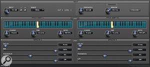Here are some of the different stereo widening treatments used in this month's remix. Although they all serve a  similar function, namely widening the stereo picture, they all sound quite different, and help increase the music's section contrast and the long-term dynamics of the mix.
