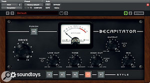 Soundtoys' Decapitator helped to beef up the kick, the key parameter being Thump, which adds an emphasis at the turnover point of the low‑cut filter.