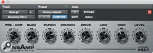 An oldie but a goodie: the SansAmp PSA‑1 plug-in helped to add definition to a slightly woolly bass sound.