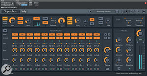 LMDSP's Superchord plug-in is afertile source of weird and wonderful effects, as applied here to the guitars.