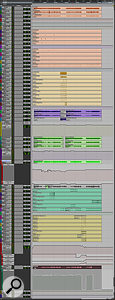 Although the complete Pro Tools mix session for 'Thought Experiment' was quite large, many of the tracks only played in short sections of the song, and 90 percent of the mixing work was focused on the drums, bass, guitar and vocal.