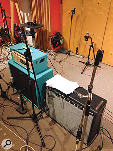 All the guitars had been recorded with multiple microphones, and some with multiple amps too, but despite the obvious potential for phase problems, most of the mic signals combined very well without requiring any phase manipulation.