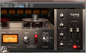 The Softube Tape plug-in helped soften the bright guitar sound.