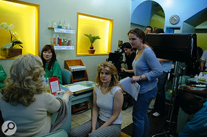 Narrow Gate Producer Sarah MacAllister 'on set' as lead character Sarah Weber.