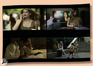 Scenes from The Narrow Gate (clockwise from top left): lead character Sarah Weber and her daughter are deeply affected by the events of September 11th, 2001, which play out in the background of the film. They meet and befriend Safiyyah and her son, and through them, Sarah encounters Safiyyah's brother Rasheed, whose life has also been turned upside down, not directly by the attacks on New York, but by its follow-on effects.