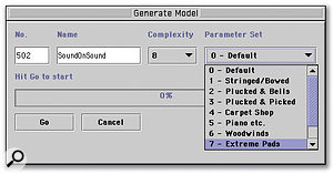 Selecting a Complexity and Parameter Set for the model.