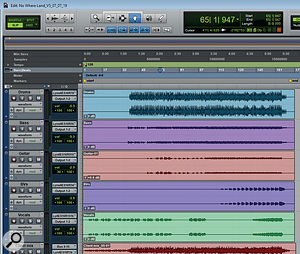 The stereo stems for a typical track from the album.