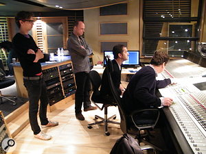 <strong>The shoot-out took place in the Metropolis Studio A control room.</strong>