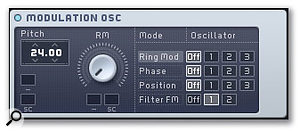 A separate high-frequency oscillator can further shape the sound of the main oscillators and filters.