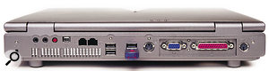 Like most laptops, the Nu Systems PC provides only four-pin Firewire sockets, but it does offer four USB sockets.