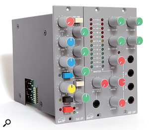 Flexible routing options: multiple I/P modules connected to the O/P master section can form a powerful 500-series mixing/summing system.