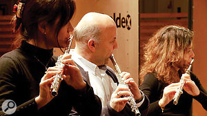 Berlin Woodwinds' flute ensemble.