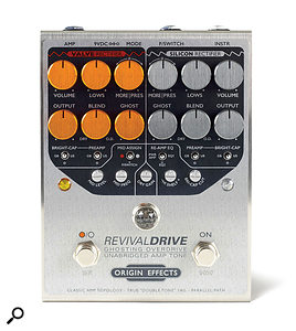 Origin Effects RevivalDrive 'ghosting' overdrive pedal.
