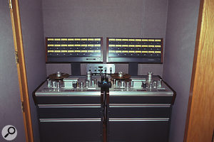 The studio's two Studer 827 multitrack reel-to-reel recorders are now used relatively rarely.