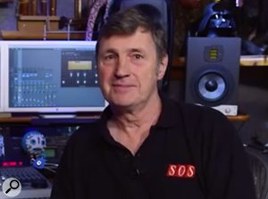 Paul White in his studio, before the revamp.
