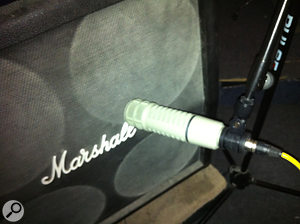 Electro-Voice RE20 and Marshall cab