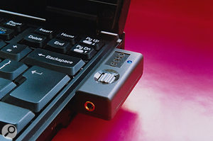 For any musician with a PC laptop, one of the huge advantages of a PCMCIA interface such as Echo's Indigo is its tiny footprint and lack of external PSU.