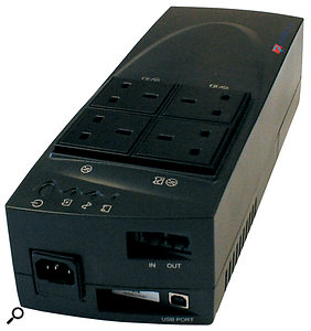 An uninterruptable power supply with power conditioning needn't be expensive. This line-interactive Riello Galatrek Plug Dialog 350 model could supply the average PC for several minutes in the event of a power cut, for under £50.